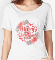 Merry Christmas Design V2 By Funkyou Women's Relaxed Fit T-Shirt