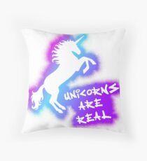Unicorns Are Real - Pink Rainbow Floor Pillow