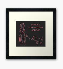 Bunny's Dog Walking Service (Buffy/Willow) Framed Print