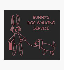 Bunny's Dog Walking Service (Buffy/Willow) Photographic Print