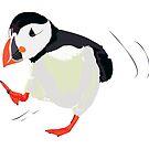 A stroll of Fratecula Artica bird by Kalliopi Karvela