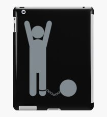 Man in a ball and chain iPad Case/Skin