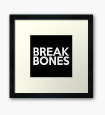 Break Bones Daniel Cormier (White) Framed Print