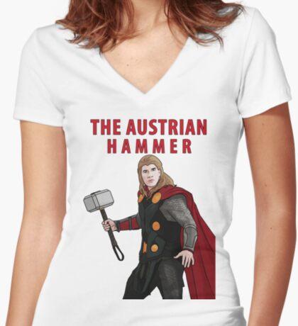 The Austrian Hammer Women's Fitted V-Neck T-Shirt