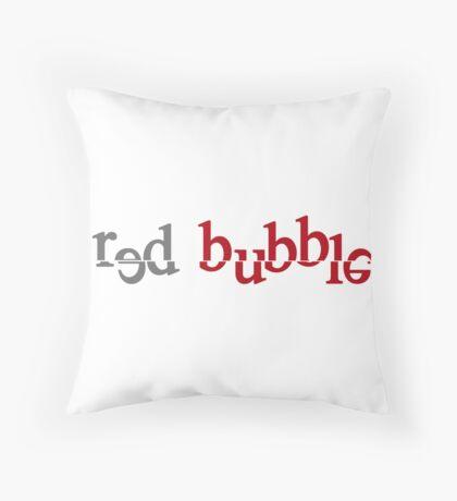Red Bubble creative logo Throw Pillow