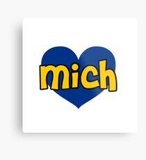 Michigan heart Metal Print