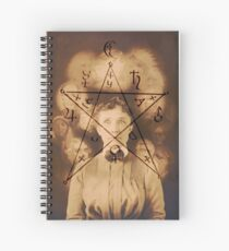 Spiritualist Mandala Collage Spiral Notebook