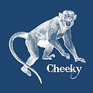 Monkey on Blue (Charlie) by MissElaineous Designs