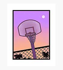 Basketball Net + Sunset Photographic Print