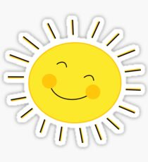 Funny Cartoon sun symbol Sticker