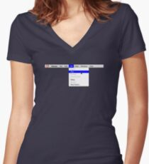Human: Game of Life v1.0 Women's Fitted V-Neck T-Shirt