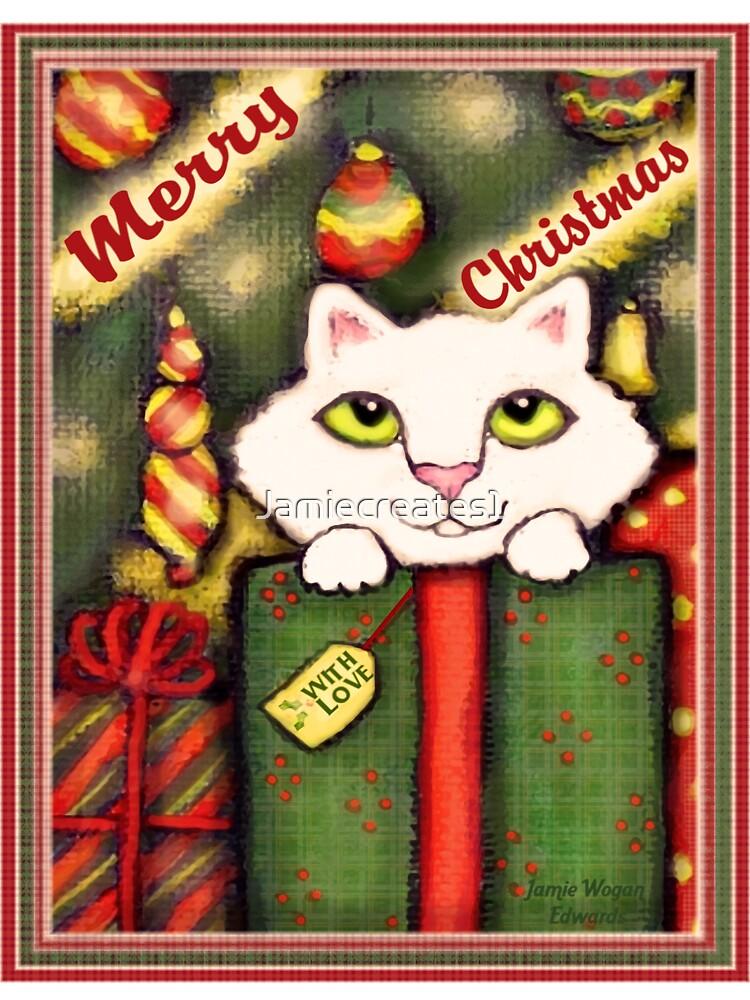 Vintage Style Christmas Gift Kitten by Jamie Wogan Edwards