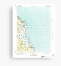 Massachusetts  USGS Historical Topo Map MA Scituate 351279 1974 25000 Metal Print