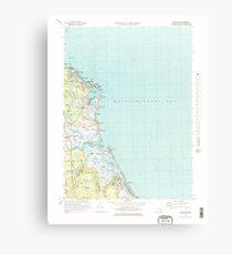 Lienzo Massachusetts  USGS Historical Topo Map MA Scituate 351279 1974 25000