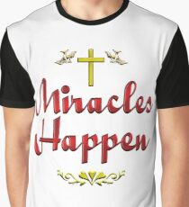 Miracles Happen Cross and Doves Graphic T-Shirt