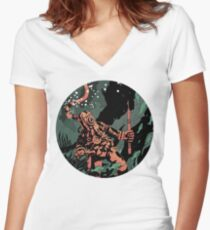 Diver Women's Fitted V-Neck T-Shirt