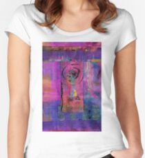 Lady in Blue Women's Fitted Scoop T-Shirt
