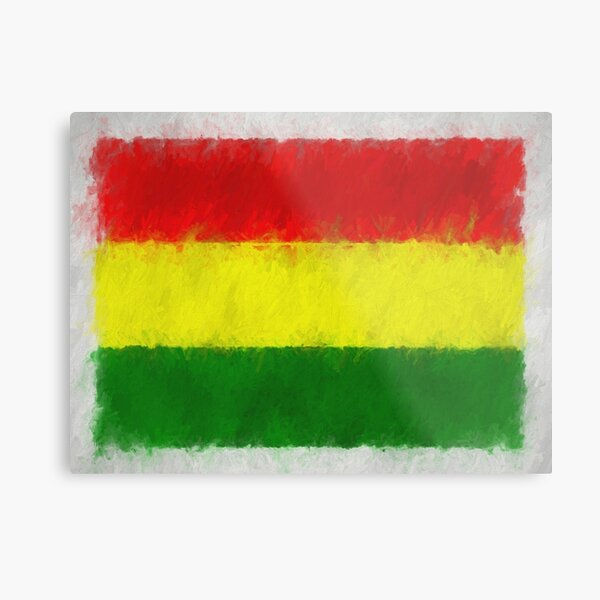 Bolivia Flag Reworked No. 66, Series 4 Metal Print