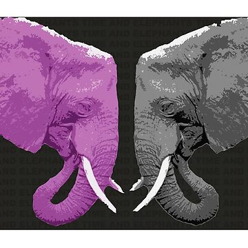Pink and Grey Elephants by mayden