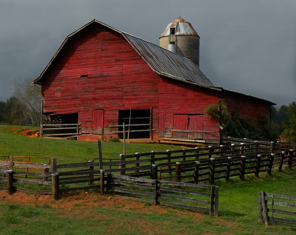 Waynesville Red Barn by Gary Pope
