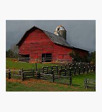 Waynesville Red Barn Photographic Print