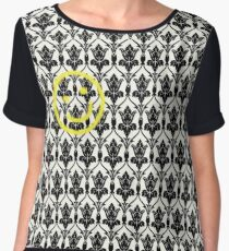 BBC Sherlock 'Bored Smiley Face'  Women's Chiffon Top