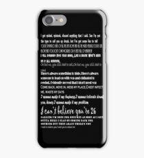 Catfish&the bottlemen lyrics iPhone Case/Skin