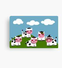 Hooligan Cows Canvas Print
