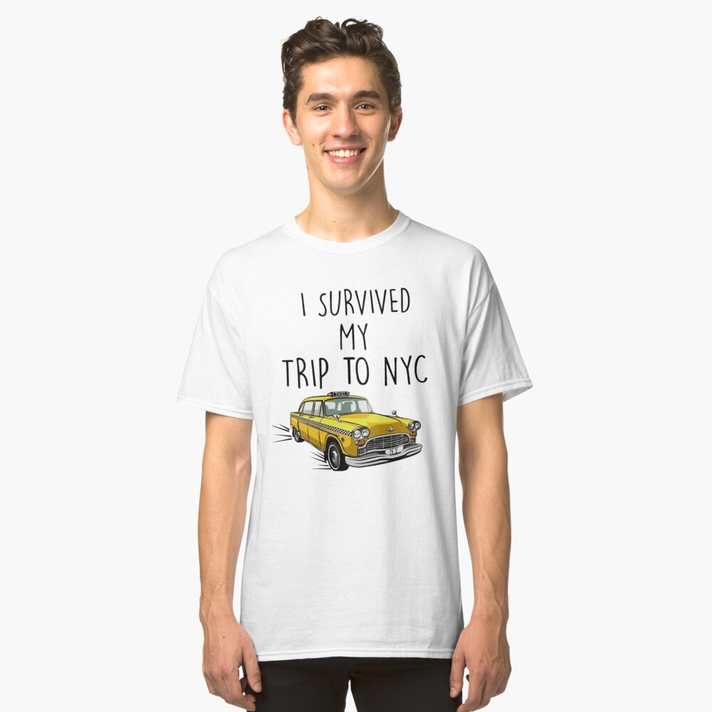 I Survived My Trip To NYC - Spiderman Homecoming Tom Holland Classic T-Shirt Front
