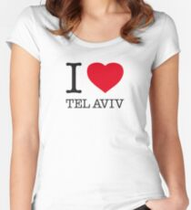 I ♥ TEL AVIV Women's Fitted Scoop T-Shirt