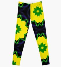 Yellow Ribbon Flowers Leggings