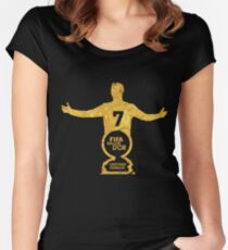 CR7 ballon d'or Women's Fitted Scoop T-Shirt