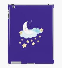 sleeping moon smiling stars iPad Case/Skin