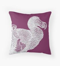 Dodo (Purple) Throw Pillow