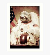 Astronaut Sloth Art Print