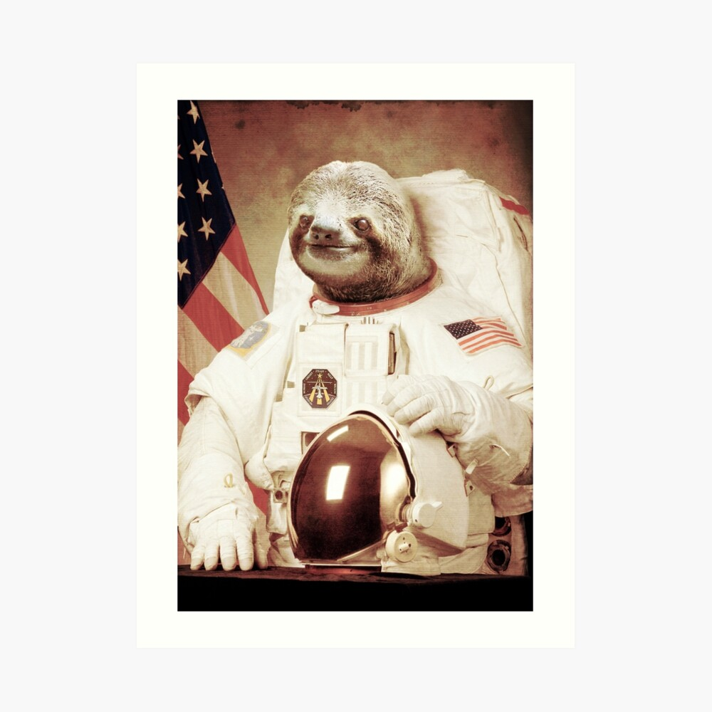 Astronauta Sloth Lámina artística