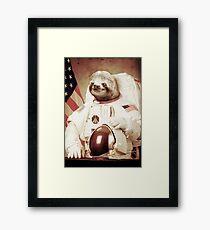 Astronaut Sloth Gerahmtes Wandbild