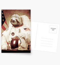 Astronaut Sloth Postkarten