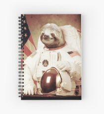 Astronaut Sloth Spiral Notebook