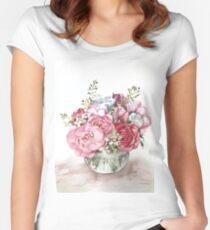 Watercolor flower bouquet  Women's Fitted Scoop T-Shirt
