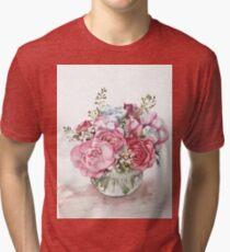 Watercolor flower bouquet  Tri-blend T-Shirt