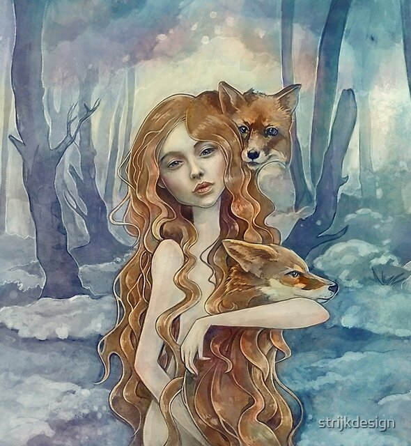 Winter fox by strijkdesign