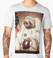 Astronaut Sloth Men's Premium T-Shirt