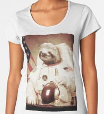Astronaut Sloth Women's Premium T-Shirt