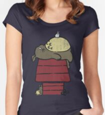 My neighbor Peanut Women's Fitted Scoop T-Shirt