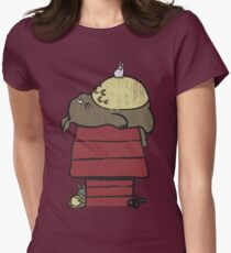 My neighbor Peanut Women's Fitted T-Shirt