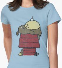 My neighbor Peanut Womens Fitted T-Shirt