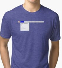 Human: Game of Life v1.2 {About this life form...} Tri-blend T-Shirt