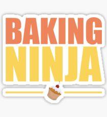 Baking Funny Design - Baking Ninja Sticker