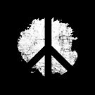 Peace Symbol Distressed Paint Blot Reversed Stencil by ClothedCircuit